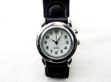 Illuminated Wrist Watch, Sweep Second Hand, Quartz, Easy On/Off Band ~ #L4470