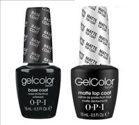 OPI GelColor Top Matte & Base Coat SET OF TWO 2x15ml Gel Colour Polish SALE!!!
