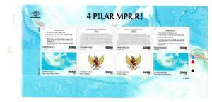 Indonesia 2019 4 Pillars of MPR (Parliament) Sheetlet MNH
