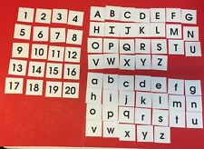 72 Cards - Alphabets / Letters & Numbers  Upper and Lowercase Cards 2.8 x 2.75