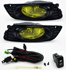 Honda Civic 2012 4dr Sedan JDM Yellow Front Fog Lights Pair RH LH Wiring Switch