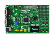 AVR Development Evaluation Board ATXmega xmega128A3U USB OLED EasyXMEGA-64
