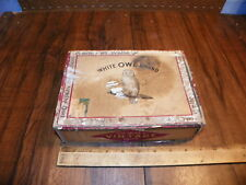Vintage WHITE OWL BRAND 5 Cents Cigar Box From GENERAL CIGAR CO.               *