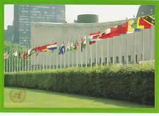 UNITED NATIONS, NEW YORK - MEMBER STATES FLAGS PRE-STAMPED COLOUR POSTCARD