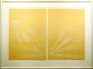 Scott Sandell Ocean Weather #15 signed monoprint yellow ORIGINAL ARTWORK obo