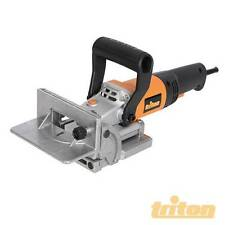 Triton Biscuit Jointer 760W Produces fast strong joints for furniture Shelves