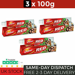 Dabur Red Toothpaste Pack of 3 x 100g