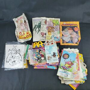 VTG McDonald's Happy Meal Empty Boxes, Bags & Arby's Coloring Sets Lot of 58