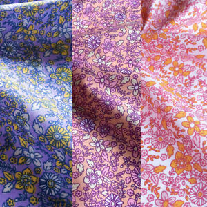 Floral Fabric Polycotton Ditsy 70's Flower Material Metre/Half Vintage Crafts