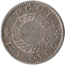 1848 Colombia (Nueva Granada) 2 Reales Silver Coin KM#105