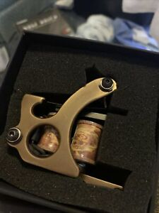 Compass Tattoo Machines Brass Fitted with Standard Tube Vise - Shader