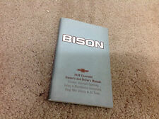 1979 Chevy Chevrolet Bison Truck Owners Operators Owner Manual Original OEM