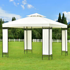 2-Tier 10'x10' Gazebo Canopy Shelter Patio Wedding Party Tent Outdoor Awning New
