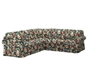 Ikea EKTORP 4 Seat sectional sofa COVER ONLY, lingbo multicolor floral - NEW