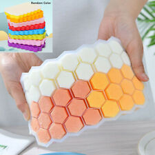 Honeycomb Ice Cube Tray Silicone Chocolate Candy Mould Icing Freezer Mold +Cover
