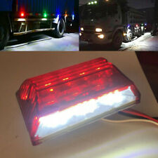 25-LED Bright White/Red Commercial Truck SUV Side Marker Indicator Lights