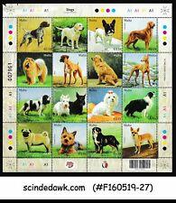 MALTA - 2018 DOGS / PET ANIMALS - MINIATURE SHEET MNH