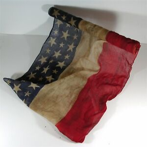 ca1870s LATE TO POST CIVIL WAR AMERICAN FLAG PATRIOTIC BUNTING - 8 FOOT BOLT