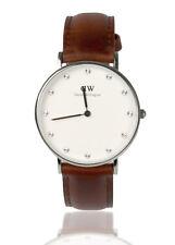 DW Daniel Wellington Uhr St Mawes DW00100079 Silver Silber Leder Braun