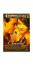 CHOCOLAT MOVIE POSTER ~ AWARDS ORIGINAL 27x40 Johnny Depp Juliette Binoche 2S
