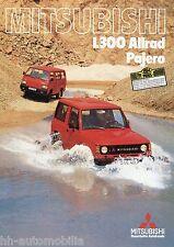 Prospekt Mitsubishi L300 Allrad u. Pajero 2 84 1984 Autoprospekt brochure Auto