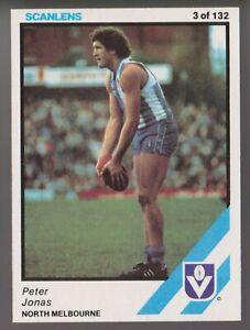 1984 Scanlens No 3 Peter Jonas North Melbourne Kangaroos card