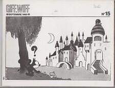 GIFF WIFF n°15. Félix le Chat - Sempé. Septembre 1965. TBE
