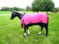 "Horse Turnout  Sheet / Waterproof / Rip-stop / Hot Pink 72"""