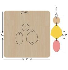 Leather  Earring Cutting  Die / Sizzix Compatible - JT112