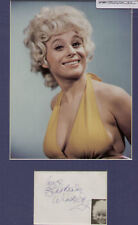 BARBARA WINDSOR signed paper + BUSTY pic in display  #02 UACC RD retirement sale