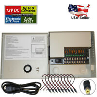 8 Channel Port 12 Volt DC CCTV Power Supply Distributed Box for Security Camera