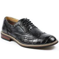 Ferro Aldo Men's Black Wingtip Lace up  Oxford Dress Shoes M-139001B