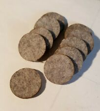 Round Felt Pad Circle 1-3/16 x 1/8 Thick Crafts Furniture Seal Gasket Plug 10pc