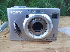 Sony Cyber-shot Dsc-W5 5.1Mp Digital Camera - Silver w/ Batteries & Data Cable