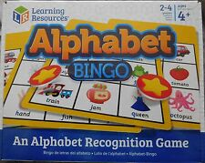 childrens ALPHABET BINGO early reading 4yrs+ BNIB phonics game learning resource