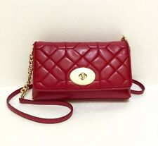 New COACH 37488 Canvon Quilt Crosstown Crossbody Bag Purse Red