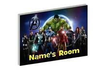 THE AVENGERS b PERSONALISED WOODEN DOOR PLAQUE