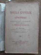 CH.DEBIERRE.LA MOELLE EPINIERE ET L'ENCEPHALE.+ Aperçu PHILOSOPHIE DE L'ESPRIT