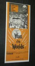 Original 70's WAR OF THE WORLDS Australian daybill insert