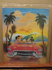 Vintage Mick 'n Min  disney  cadillac convertible poster 2327