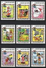 Caicos Islands 1983 Christmas Disney Cartoon Characters SG 30 - 38 un/mint