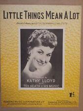 song sheet LITTLE THINGS MEAN A LOT Kathy Lloyd 1954