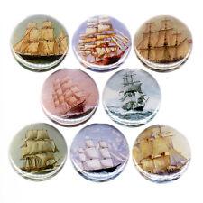 PIRATE SHIPS pinback button set badges treasure vintage boats sail sea caribbean
