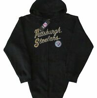 Pittsburgh Steelers NFL Sideline Black Full Zip Hoodie Women's Plus Sizes