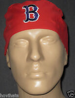 "BOSTON RED SOX  ""B"" ON RED SCRUB HAT / FREE CUSTOM SIZING!"