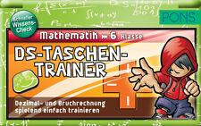 PONS DS-Taschen-Trainer Mathematik 6. Klasse Dezimal- & Bruchrechnung, NEU