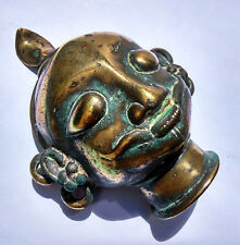 Ancienne tête de Shiva en bronze Maharashtra Inde 17/18e