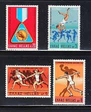 Greece 1969 Mnh Mi 1006-1009 Sc 949-952 European Athletic Championship