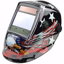 "Auto Darkening Welding Helmet Biggest View Solar Power 4 Censor Hood 4X3.7""EAGLE"