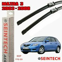 "MAZDA 3 2003-2008 SPECIFIC FIT FRONT WINDSCREEN WIPER BLADES 21""19"" SEINTECH"